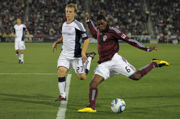 Anthony Wallace playing with Colorado Rapids vs. New England Revolution, 2010. Photo: Doug Pensinger/Getty Images